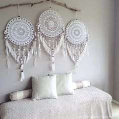 Adina Crochet Handmade Dreamcatcher Uniquely handmade and fully customizable Dreamcatchers. Have a personalized custom made Dreamcatcher, wall mural or baby mobile handmade for your home or for someon
