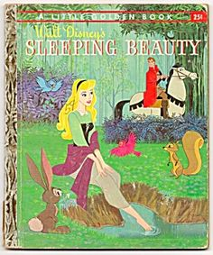 sleeping beauty golden book 1957 series little golden books