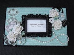 """Breakfast at Tiffany's"" Altered Box (top)"