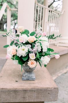 Lux & Union is a creative floral design studio based in Charleston, SC., specializing in wedding and special event floral work. Ceremony Decorations, Table Decorations, Garden Urns, Charleston, Special Events, Floral Design, Floral Wreath, Blush, Wreaths