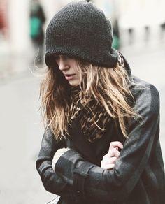 beanie + jacket.