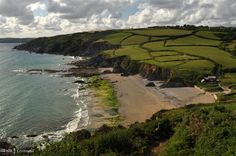Hemmick Beach, the Roseland south Cornwall