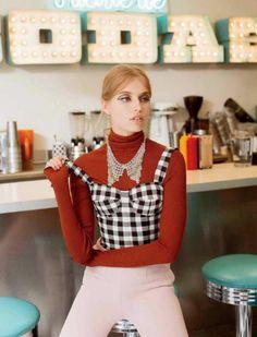 """Diner Girl"" Megan Irminger for ELLE Mexico December 2015"