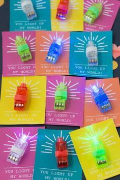 You Light Up My World, A Finger Light Valentine | Design Mom
