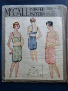 1920s 1930s vintage lingerie pattern mccall 5090 by OdeToJune