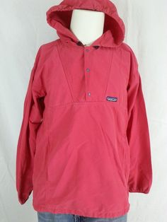 Details about Patagonia Nylon zip Hooded Rain Jacket blue ...