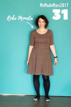 En robe Moneta de Colette Patterns pour le jour 31 du Me Made Month Mars 2017 Blog Couture, Moneta, Marie, Colette Patterns, Blouse, Vintage, Style, Fashion, Patterns