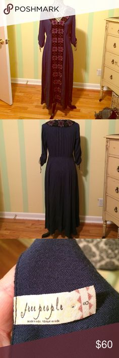 Free people dress Button up dress EUC! Only worn once. I might still have the extra buttons. Free People Dresses Maxi