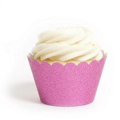 Hot pink cupcake wrapper