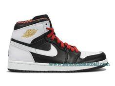 Air Jordan 1 Retro Chaussures De Basketball Pour Homme Noir Blanc Rouge 539542-035