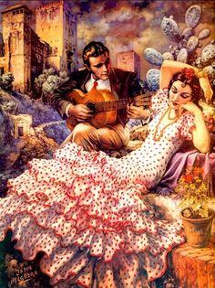 """Jesús Helguera (May 28, 1910 – December 5, 1971) was a Mexican painter. Among his most famous works are La Leyenda de los Volcanes, La Leyenda, Popocapetl & Ixtaccihuatl, Hidalgo, """"Rompiendo las Cadenas"""", El Aguila y la Serpiente, and Juan Diego y la Virgen de Guadalupe."""