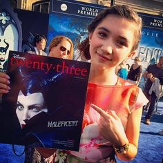 "Rowan Blanchard Adorable In A Floral Dress For Disney's ""Maleficent"" Premiere"