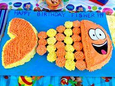 Bubble Guppies party idea - Mr. Grouper cake