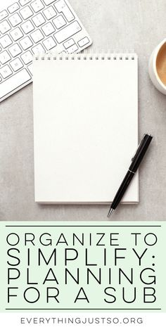 Organize to Simplify