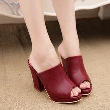 Ventas calientes 3 colores señora punta abierta plataforma de la señora zapatillas moda mujer zuecos de señora Casual sandalias negro tamaño 35-40 B050(China (Mainland))