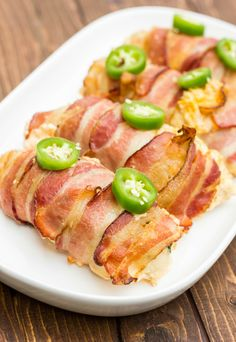 Jalapeno Popper Stuffed Chicken Wrapped in Bacon