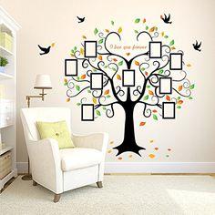 Black Clothes Stand Tree Hanger Wall Decal Sticker Home Decor Vinyl Art 140CM