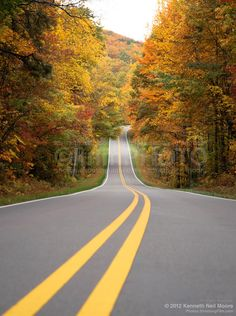 Autumn Country Road - Order fine art prints of this photo starting at $35.95.