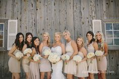Bride and her bridesmaids | Bridal party picture idea | Wedding photography | Danielle Capito photography