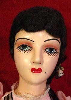 Antique French Boudoir Doll - Circa 1920