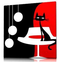 cuadros decorativos rojo blanco negro con relieves