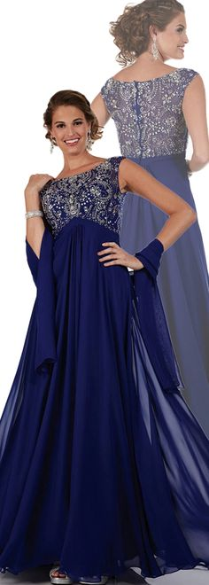 Glamorous A-line Gown Floor-Length Mother of the Bride Dress