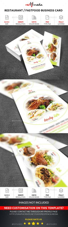 Restaurant Business Card — Photoshop PSD #ad #catering • Available here → https://graphicriver.net/item/restaurant-business-card/15278677?ref=pxcr