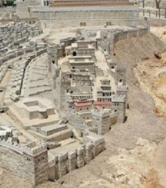 City of David, Jerusalem - photo of the ancient city at the Israel museum