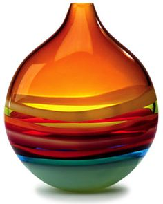Vase. Rainbow. Glass