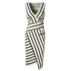 Striped Asymetrical Dress