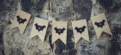 simple as that: friday craft day: simple halloween bunting (love this... But I'll use newspaper or magazines NOT a book)