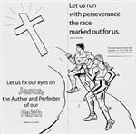 1b coloring pages | Run the Race - Crossword Puzzle | VBS IDEAS | Run the race ...
