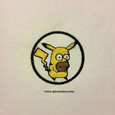 Team Homerchu forever and ever.  #whosthatpokemon  #pokemon #pokemongo #anime #letsplayagame #guess #guesswho #Nintendo #gamergirl #gamergirls #gaming #gamers #Pokémon #homerchu #Homer #HomerSimpson #patches #patchgame #ironon #irononpatch #irononpatches  #sewing #cnc #lowbrow #lowbrowart #embroidered #embroidery #crafts #crafting