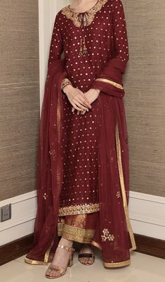 Post wedding dinner/ dawat outfit inspo for newly wed brides Punjabi Salwar Suits, Patiala Salwar, Pakistani Wedding Outfits, Pakistani Dresses Casual, Indian Dresses, Indian Outfits, Punjabi Suits Designer Boutique, Indian Designer Outfits, Designer Dresses