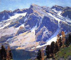 Edgar Alwin Payne. Sierra Divide, 1921. Oil on canvas. 24 x 28 inches