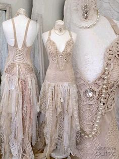 Boho wedding dress tattered look ,bridal gown tattered,pagan wedding dress,wedding dress RawRags,beautiful Event Dresses, Nice Dresses, Buy Dress, Lace Dress, Chic Dress, Pagan Wedding, Fairy Dress, Fairy Skirt, Fairy Clothes
