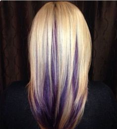 Purple peak-a-boo highlights....