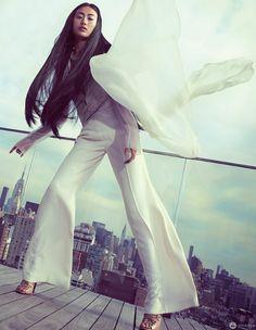 Shu Pei в фотосессии для журнала Vogue China