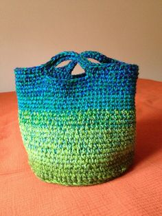 My finished ombre basket finished-crafty-projects