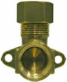 Brass Fittings - Brass Compression Fittings - Forged Drop-Ear Brass Elbow - 5/8 COMPRESSION X 1/2 FEMALE NPTF DROP-EAR BRASS ELB (18271)