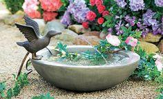 Kleine Wasserspiele für den Garten -   Es gluckert und sprudelt aus Brunnen, Skulpturen oder mobilen Teichen. Wasser sorgt für Wohlbefinden und dient auch in kleinen Gärten als Blickfang. Diese Wasserspiele sorgen für romantische Hintergrundmusik.