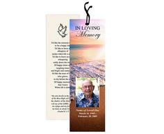Memorial Bookmarks : Petals Bookmark Template Layout | Memorial ...