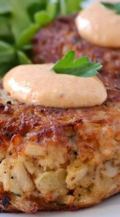 Crab Cakes with Horseradish-Sriracha Remoulade ~ These crab cakes ...