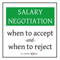 When to accept a salary offer