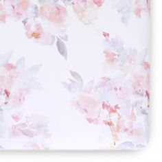 Shop the Oilo Studio Modern Prim Jersey Crib Sheet- Blush and other Crib Sheets at Kathy Kuo Home Floral Crib Sheet, Relaxing Colors, Girl Nursery, Nursery Ideas, Nursery Inspiration, Nursery Decor, Nursery Furniture, Project Nursery, Nursery Room