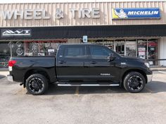 Lifted Toyota Tundra with Black Rims Find the Classic Rims of Your Dreams - www.allcarwheels.com