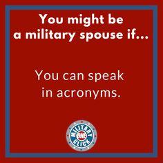 OCONUS. DITY. TDY. TLA. Military Memes, Calm