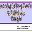 Processing Auditory Directions Embedded with Concepts was designed to facilitate… Speech Language Pathology, Speech And Language, Auditory Processing Disorder, Following Directions, Educational Activities, Teacher Newsletter, Speech Therapy, Special Education, Teacher Resources