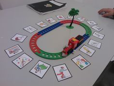 """Train Game"" for Speech Therapy. Train stops at card you practice. Preschool Speech Therapy, Articulation Therapy, Speech Activities, Speech Language Therapy, Speech Therapy Activities, Speech And Language, Language Activities, Early Childhood Activities, Speech Language Pathology"
