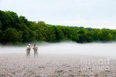 Title:  Fog Fishing   Artist:  Cindy Tiefenbrunn   Medium:  Photograph - Digital